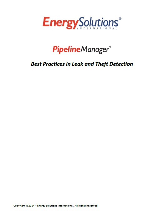 PipelineManager – Best Practices in Leak and Theft Detection