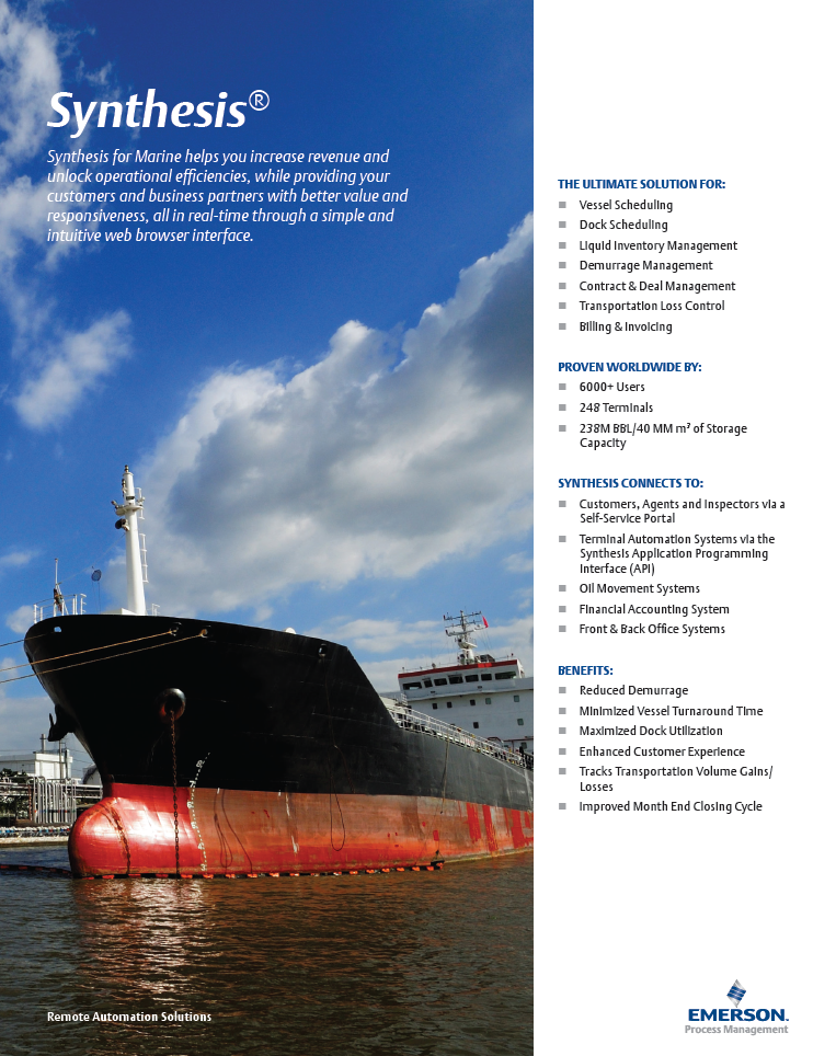 Synthesis for Marine Brochure