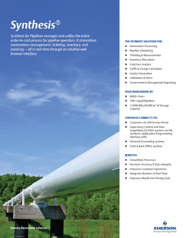 Synthesis for Pipelines