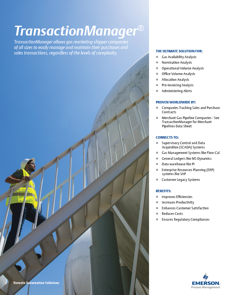 Transaction Manager (for shippers) Brochure